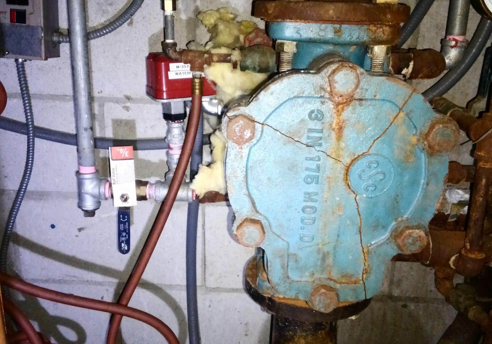 Restoration of frozen fire sprinkler valves - 7 seas restaurant